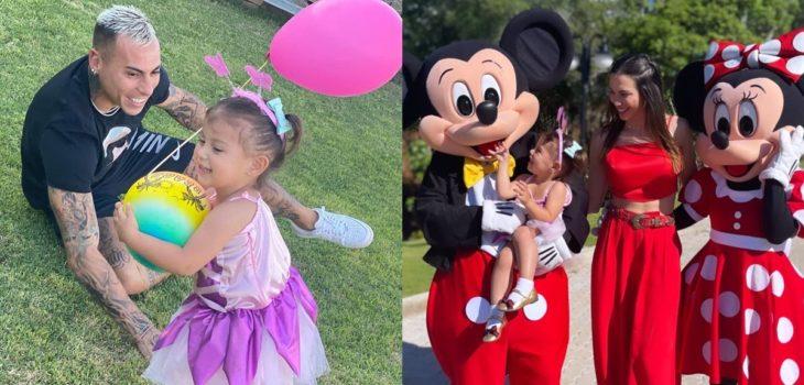 El 'encantado' cumpleaños de la hija de Eduardo Vargas y Daniela Colett