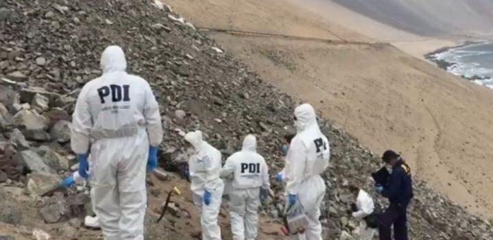 cuerpos calcinados en Iquique