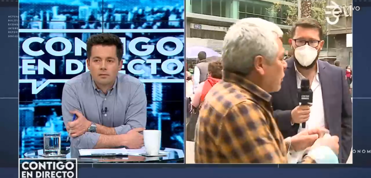 Transeúnte interrumpió a gritos despacho en vivo de Contigo en directo:
